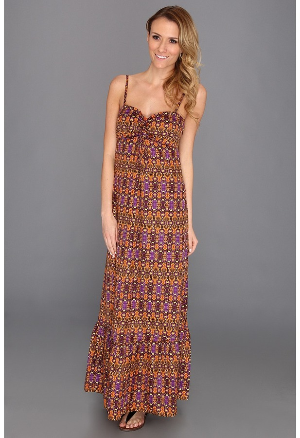 Anne Klein Paisley Print Maxi Dress Women's Dress