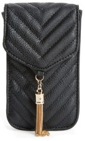 Amici Accessories Quilted Faux Leather Phone Crossbody Bag - Black