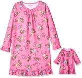 Komar Kids Girls' Big Girls' Monkey Aop 'Me and My Dream Doll' Set