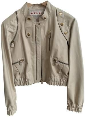 Marni Beige Leather Jackets