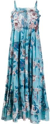 Diane von Furstenberg Tiered Floral Print Dress