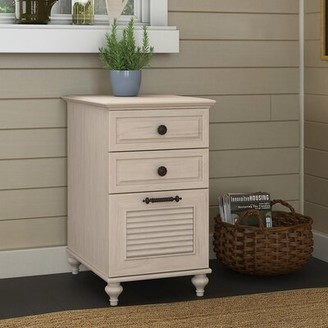 Kathy Ireland Volcano Dusk 3-Drawer Vertical Filing Cabinet Home by Bush Furniture Finish: Driftwood Dreams Antique White