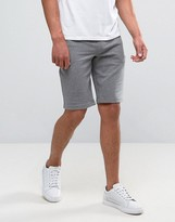 Armani Jeans Sweat Shorts Regular Fit In Grey Melange