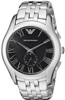 Giorgio Armani Emporio Classic AR1706 Men's Stainless Steel Watch with Black Dial