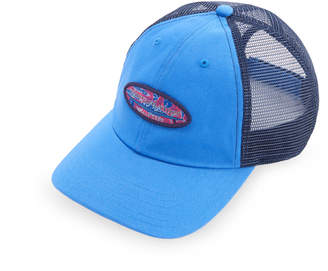 Vineyard Vines Tribal Fish Logo Box Trucker Hat