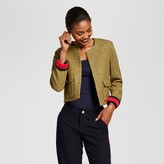 A New Day Women's Cropped Tweed Jacket - A New Day Olive