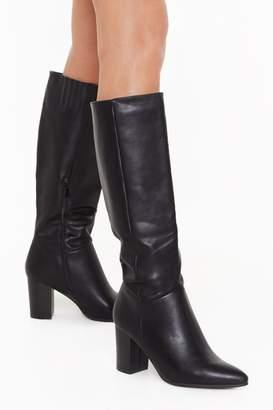 Nasty Gal Womens Stay Groovy Heeled Knee-High Boots - black - 7