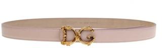 Dolce & Gabbana Belt In Calf With Logo Barocco