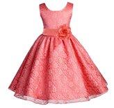 ekidsbridal Wedding Floral Lace Overlay Flower girl dress Toddler Princess 163s s