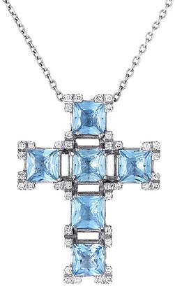 Salvini 18K 4.40 Ct. Tw. Diamond & Aquamarine Necklace