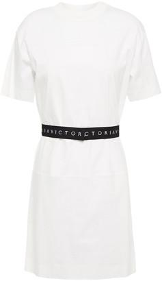 Victoria Victoria Beckham Belted Cotton-jersey Mini Dress