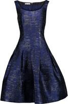 Oscar de la Renta Metallic faille dress