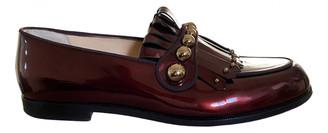 Christian Louboutin Burgundy Patent leather Flats