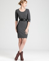 Bloomingdale's C by Cashmere Color Block Sheath Dress
