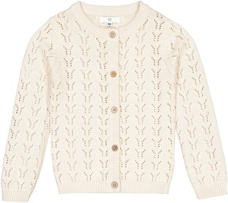 La Redoute Collections Openwork Buttoned Cardigan, 3-12 Years