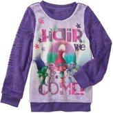 DreamWorks Trolls Girls' Tee Shirt (XS, Polyester Minky Sweatshirt)