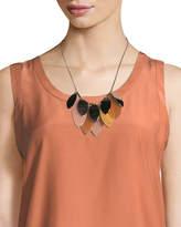 Lafayette 148 New York Multi-Leaf Long Statement Necklace