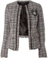 **Tall White Bouckle Jacket
