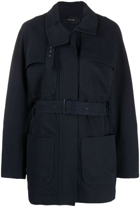 Low Classic Belted Fitted Coat