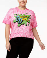 Hybrid Plus Size Cotton Double Dare Graphic Tie-Dyed T-Shirt