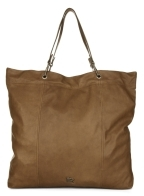 Packable Leather Tote Bag