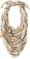 BCBGeneration Striped Layered Triangle Scarf