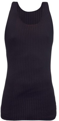 Bottega Veneta Twist-back Cotton-blend Ribbed Tank Top - Black