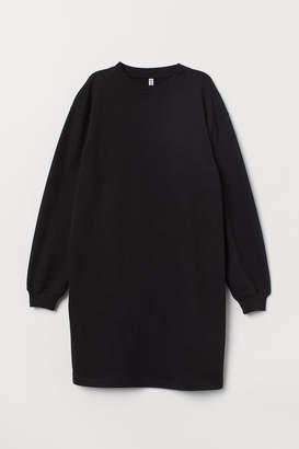 H&M Short Sweatshirt Dress - Black
