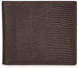 Reiss Mister Print Leather Billfold Wallet