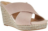 Me Too As Is Canvas Cross Strap Slide Wedges - Athena