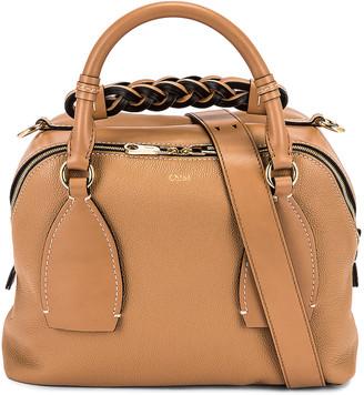 Chloé Medium Daria Day Bag in Cement Brown | FWRD