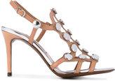 L'Autre Chose studded cage sandals - women - Leather - 37.5