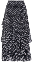 Peter Pilotto Silk-georgette Midi Skirt