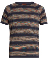Missoni Striped Crew-neck Cotton T-shirt