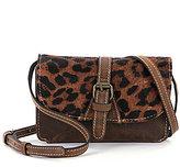 Patricia Nash Torri Leopard-Print Haircalf Cross-Body Bag