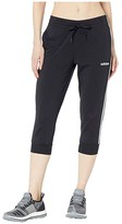 adidas Essential 3-Stripes 3/4 Pants (Black/White) Women's Workout