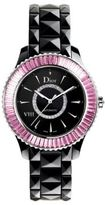 Christian Dior VIII Diamond, Pink Sapphire, Diamond & Black Ceramic Bracelet Watch