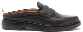 Thom Browne Backless Grained-leather Penny Loafers - Black