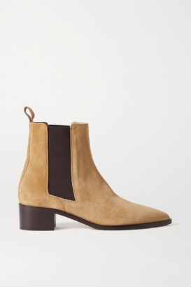 AEYDĒ Lou Suede Chelsea Boots - Beige