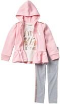 Hoodie, Long Sleeve T-Shirt, & Leggings (Toddler Girls)
