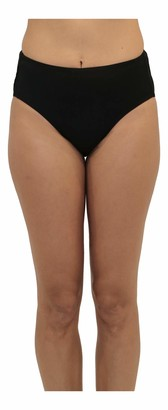 Fit 4 U Women's Solid Swim Brief Bottom