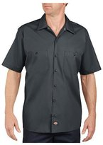 Dickies LS535 Men's Short-Sleeve Industrial Poplin Work Shirt (M)