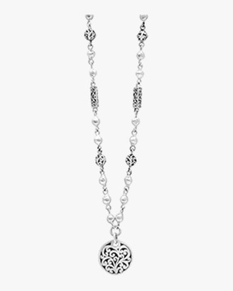 Lois Hill Carved Scroll Pendant Necklace