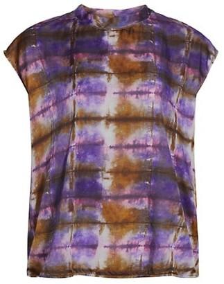 Raquel Allegra Easy Pop Over Tie-Dye T-Shirt