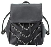 Charlotte Russe Chainlink Faux Leather Backpack