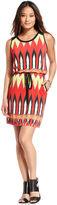 ECI Dress, Sleeveless Tie-Front Printed
