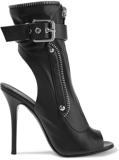 Giuseppe Zanotti Kendra Buckled Leather Ankle Boots - Black
