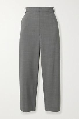 Tibi Cropped Woven Straight-leg Pants - Gray