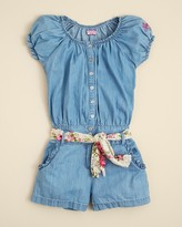 GUESS Girls' Chambray Romper - Sizes S-XL