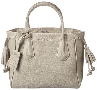Longchamp Penelope Small Leather Shopper Tote